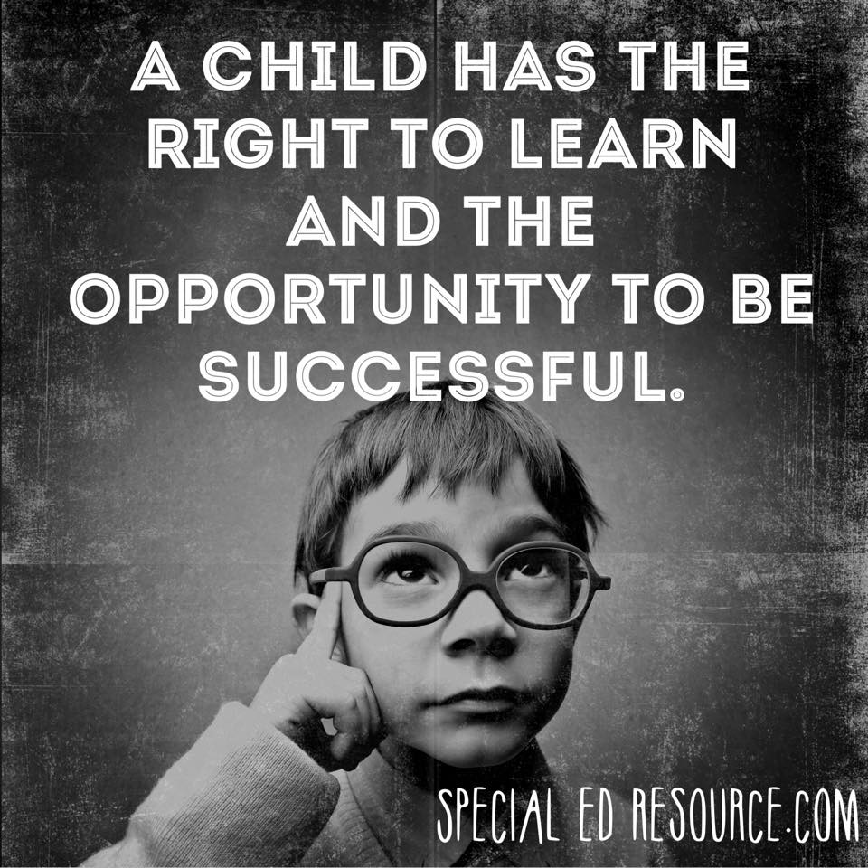 A Child Has The Right To Learn | Special Education Resource