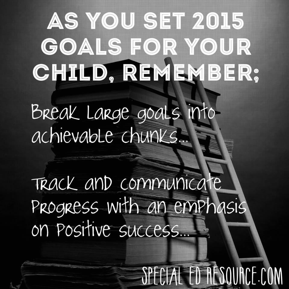 Keep Goals Simple For Children   Special Education Resource