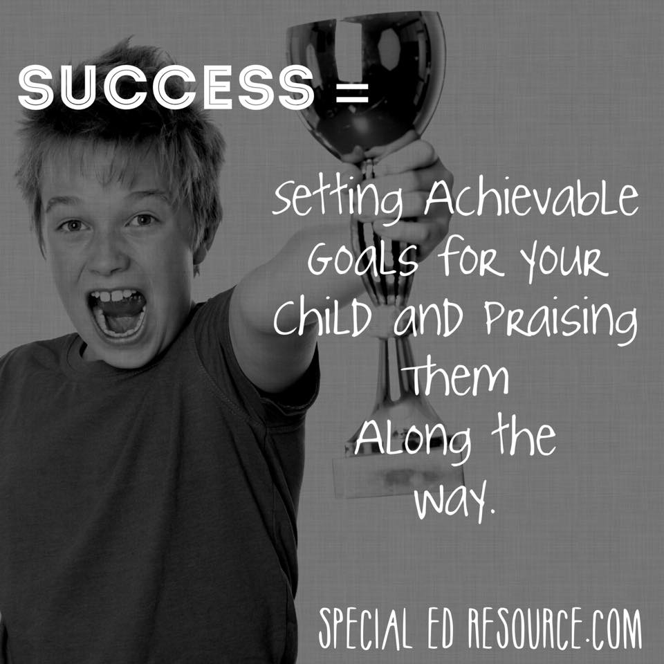 Set Achievable Goals For Your Child | Special Education Resource