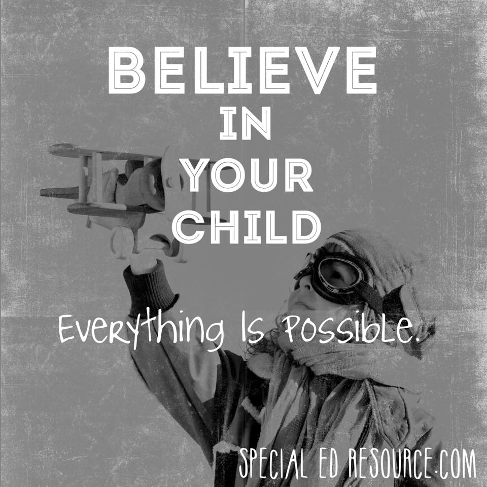 Believe In Your Child | Special Education Resource