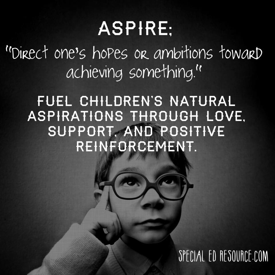 Children Aspire To Be Successful