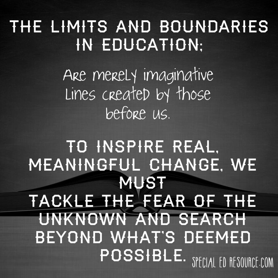 Educational Limits Are Merely Imaginative