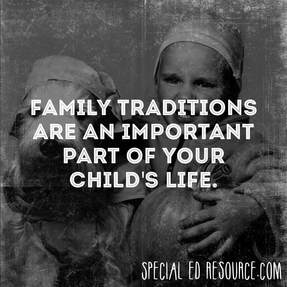 Family Traditions | Special Education Resource