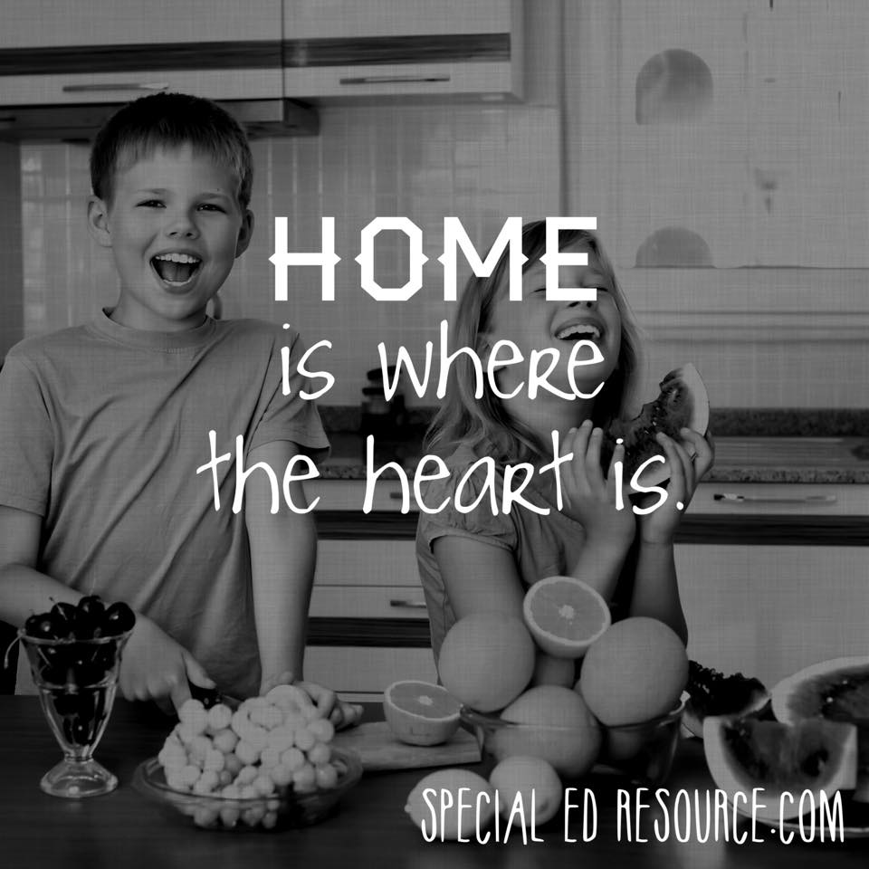 Home Is Where The Heart Is | Special Education Resource