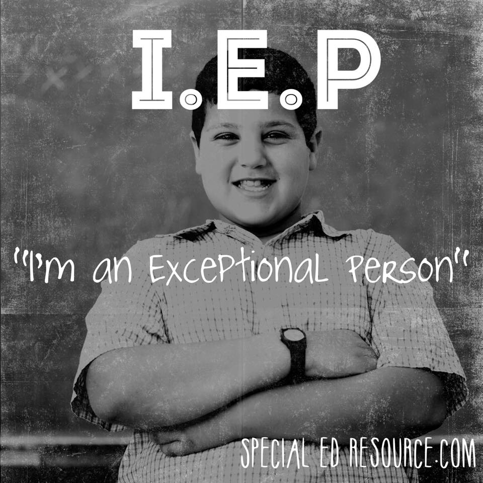 IEP | I'm An Exceptional Person | Special Education Resource