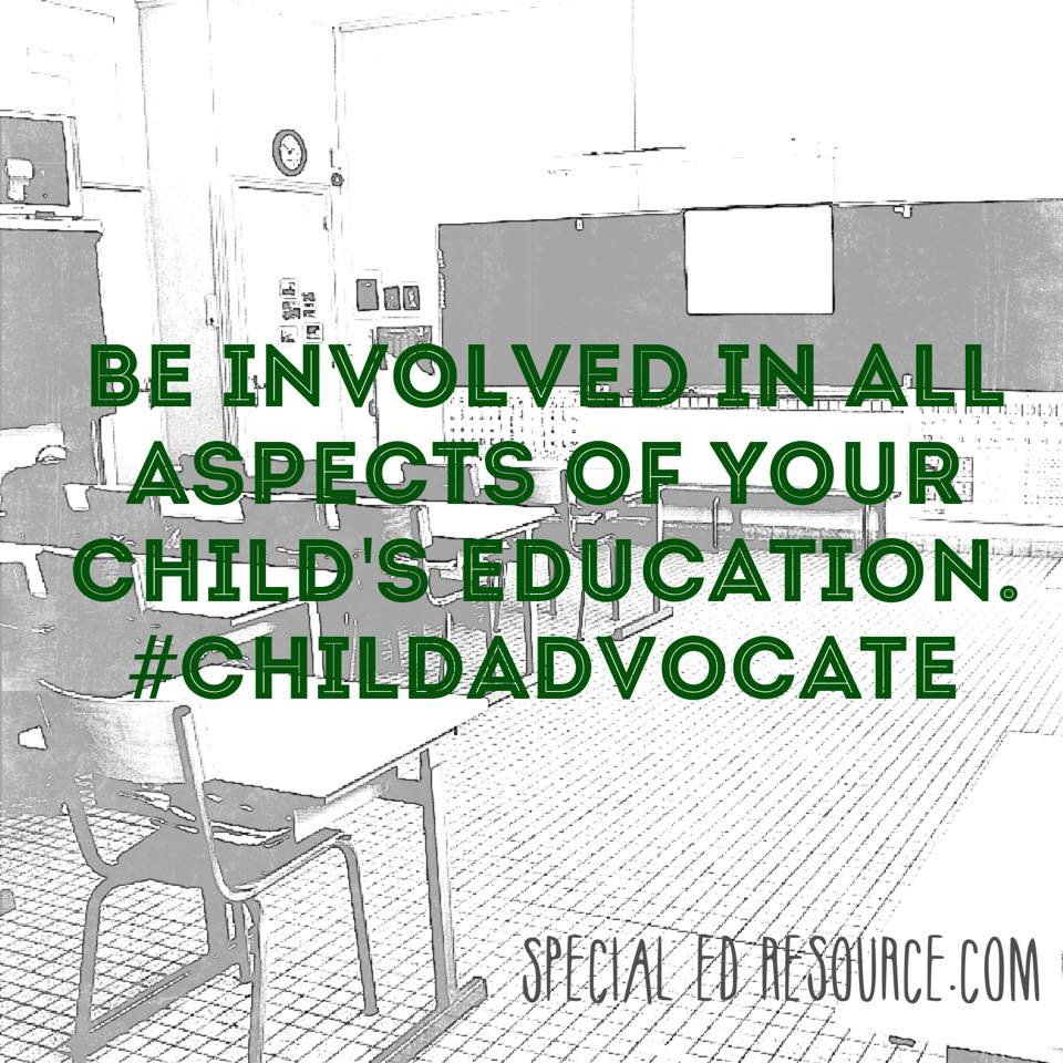 Be Involved In Your Child's Education | Special Education Resource