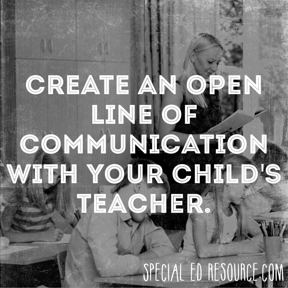 Open Lines Of Communication With Your Child's Teacher| Special Education Resource