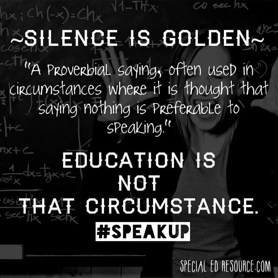 Silence Is Not Golden In Education
