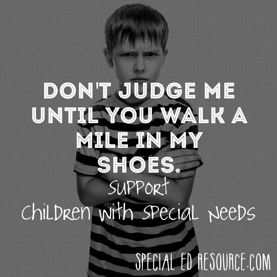 Support Children Without Judgement | Special Education Resource