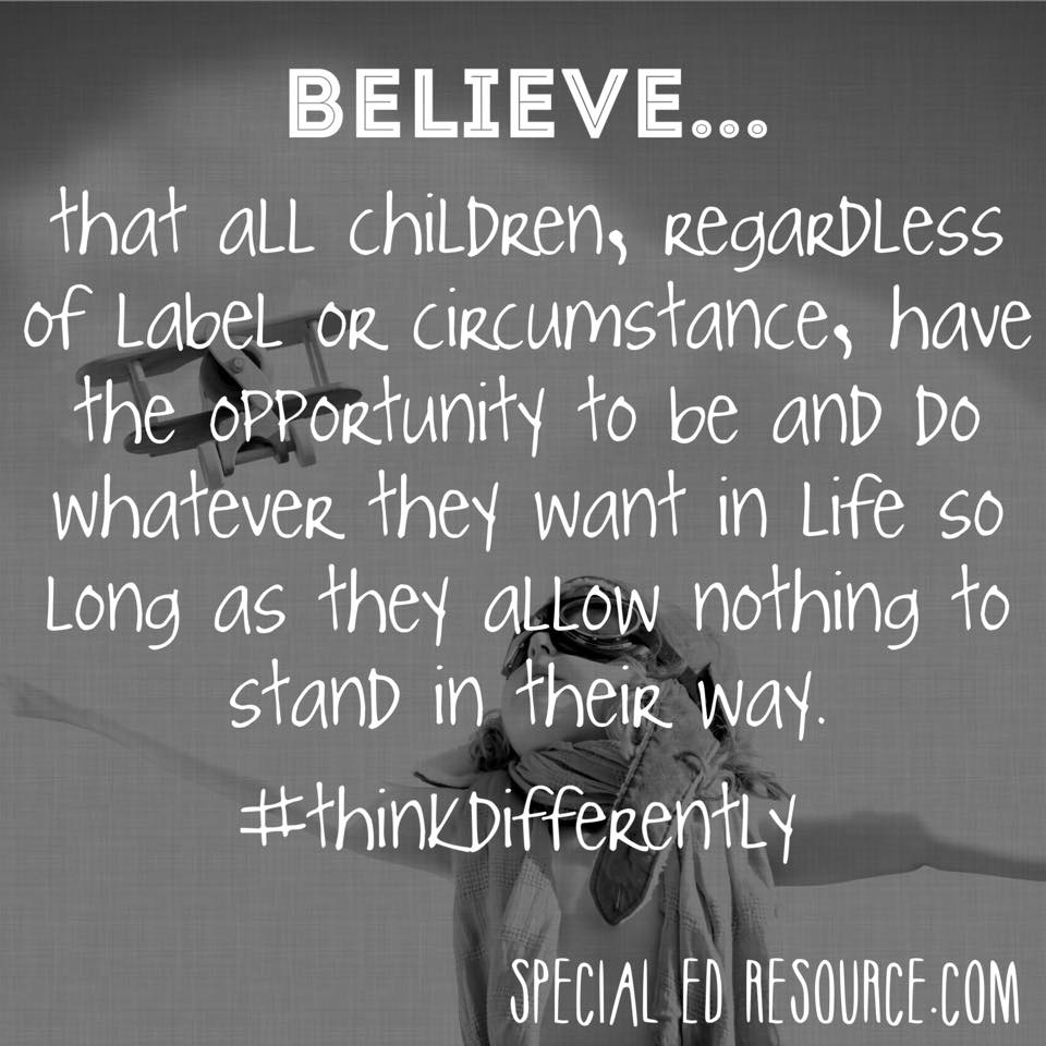 Teach Our Children To Believe | Special Education Resource