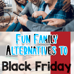 Family visiting a nursing home as one of many family alternatives to Black Friday shopping