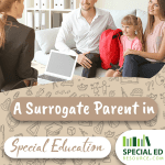A school administrator is speaking with a student and her surrogate parent in special education and spouse about how to better help advocate for her education.