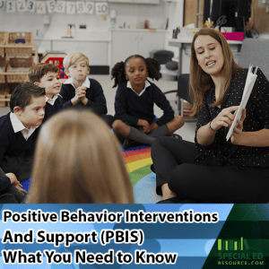 This school is participating in positive behavior interventions and support while the students are sitting around a rug on the classroom floor with the teacher reading to them.