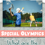 Children participating in a Special Olympics Tennis event.