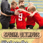 Children participating in a Special Olympics soccer event.