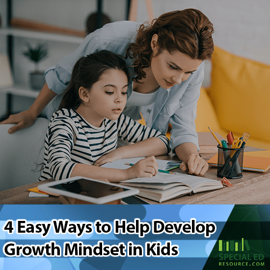 Mom and daughter trying out one of the 4 Easy Ways to Help Develop Growth Mindset in Kids at home.