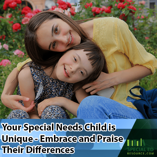 Mom and daughter happily acknowledging her special needs Child is Unique - Embrace and Praise Their Differences