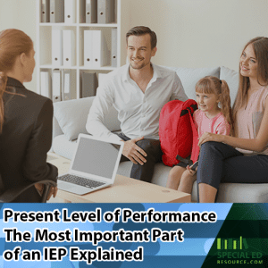 Parents with young daughter meeting with special education teacher about Present Level of Performance The Most Important Part of an IEP Explained