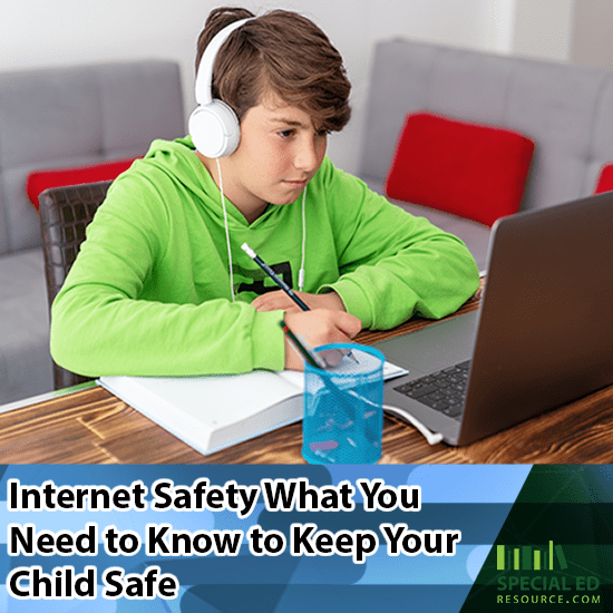 Boy doing school work online at home Internet Safety What You Need to Know to Keep Your Child Safe