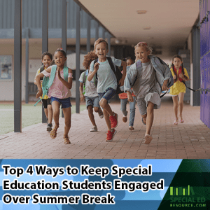 Kids running to leave on the last day of school before the summer break.