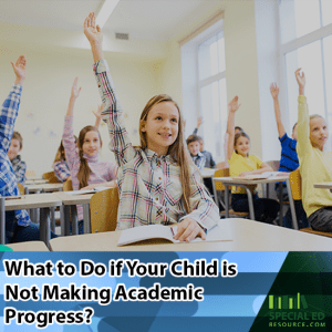 Classroom of students all with their hands raised with what to do if your child is not making academic progress