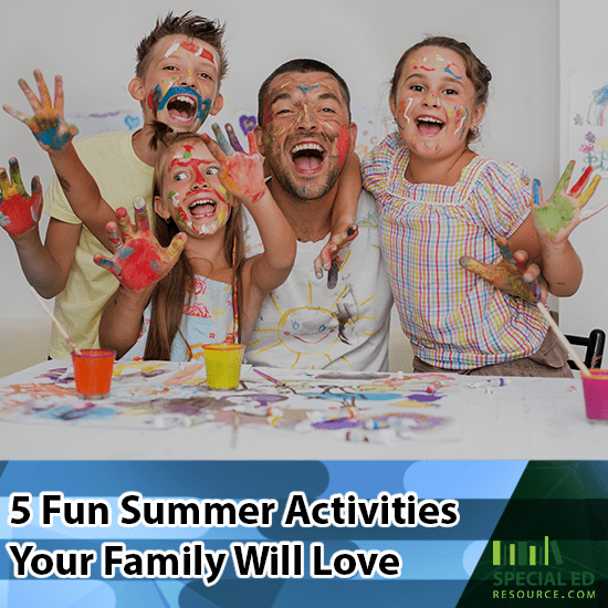 Family happily spending quality time together participating in one of many summer activities the whole family loves.