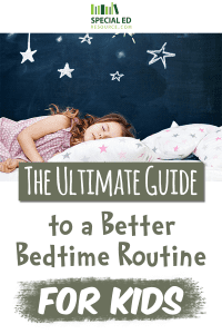 Little girl laying in bed sleeping after her parents read this guide to a better bedtime routine for kids.