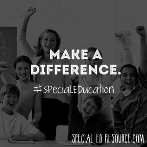 Make A Difference | Special Education Resource