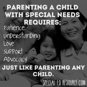 Requirements Of Parenting | Special Education Resource