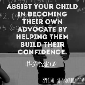 Self Advocacy Is Vital | Special Education Resource