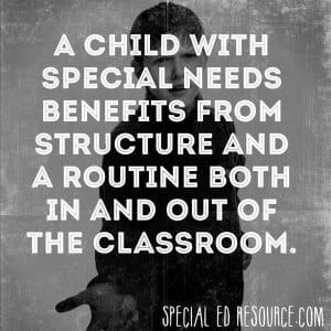 Children Benefit From Structure And Routine | Special Education Resource