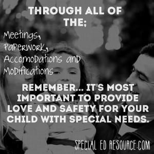 Love Your Child Above All Else | Special Education Resource