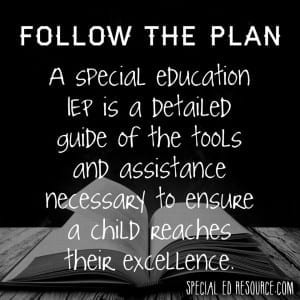 Follow The IEP | Special Education Resource