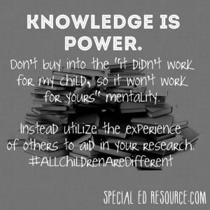 Knowledge Is Power | Special Education Resource