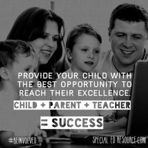 A Child, Parent And Teacher Working Together Creates Success