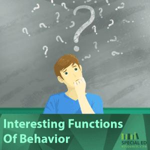 Interesting Functions Of Behavior