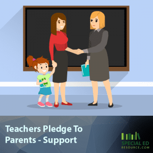 Teachers Pledge To Parents - Support