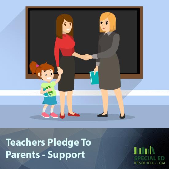 Teachers Pledge To Parents - Support